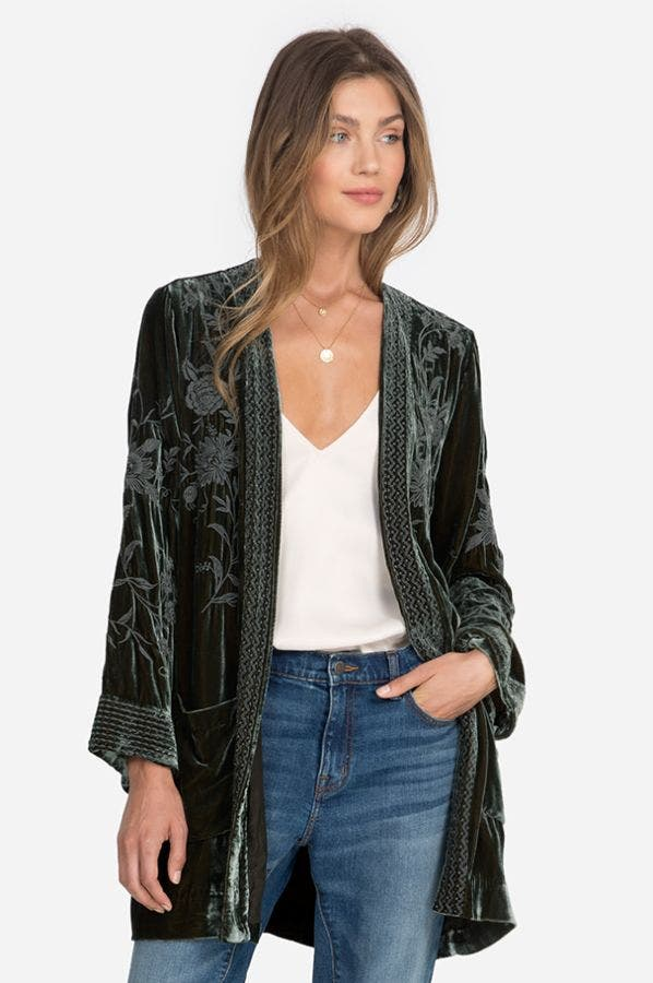 MILLIE VELVET SMOKING JACKET