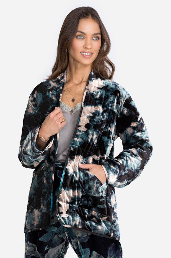 SHADOW VELVET QUILTED JACKET