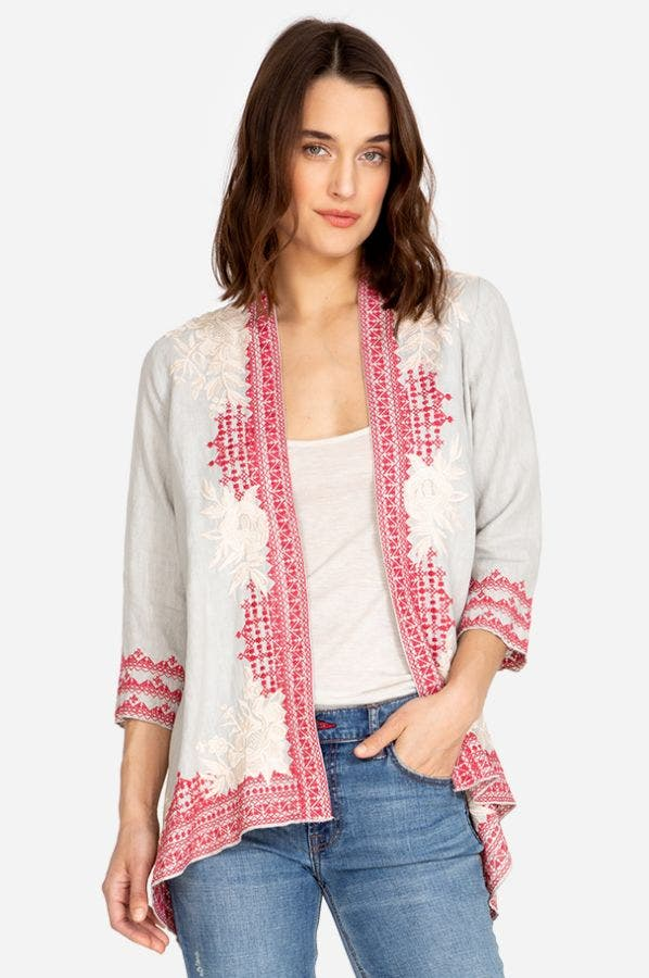 CAMILLE DRAPED CARDIGAN