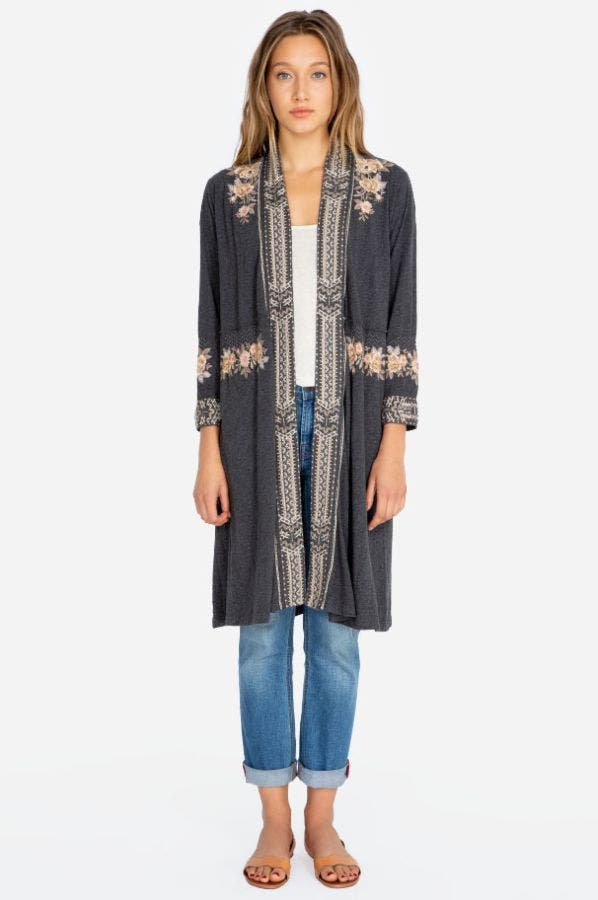 MARUSHKA KNIT DUSTER COAT