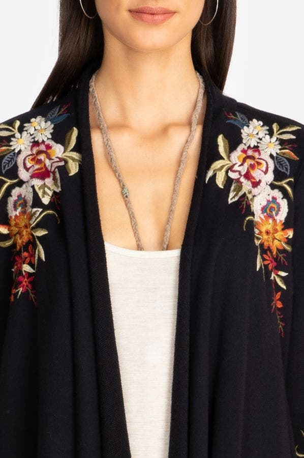 ISLA DRAPED CARDIGAN COAT