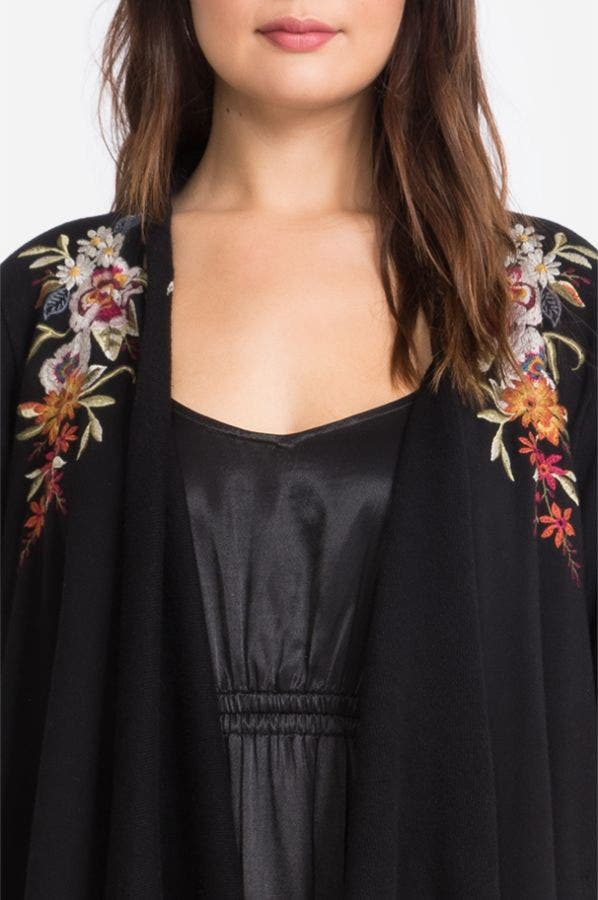 ISLA DRAPED CARDIGAN COAT-PLUS SIZE