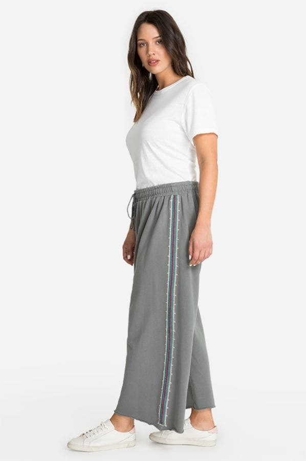 KAIRA FRENCH TERRY CROP PANT-PLUS SIZE