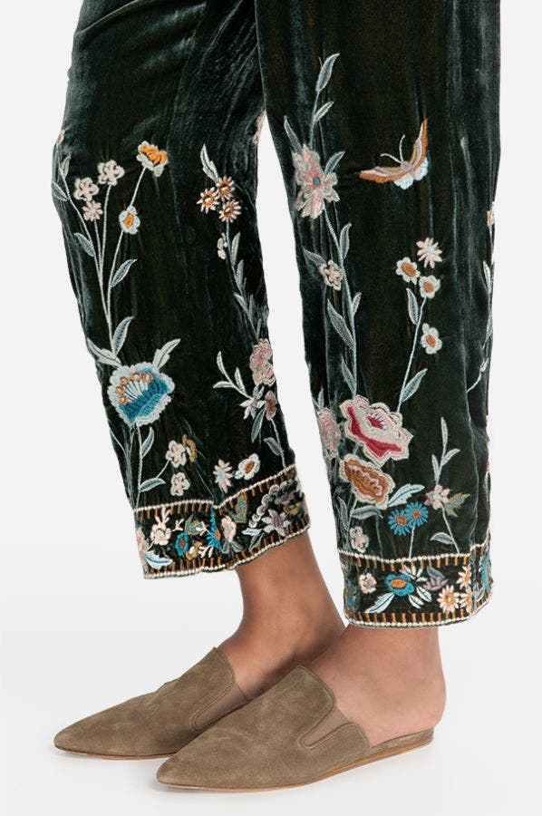 SERAFINA VELVET PULL-ON PANTS