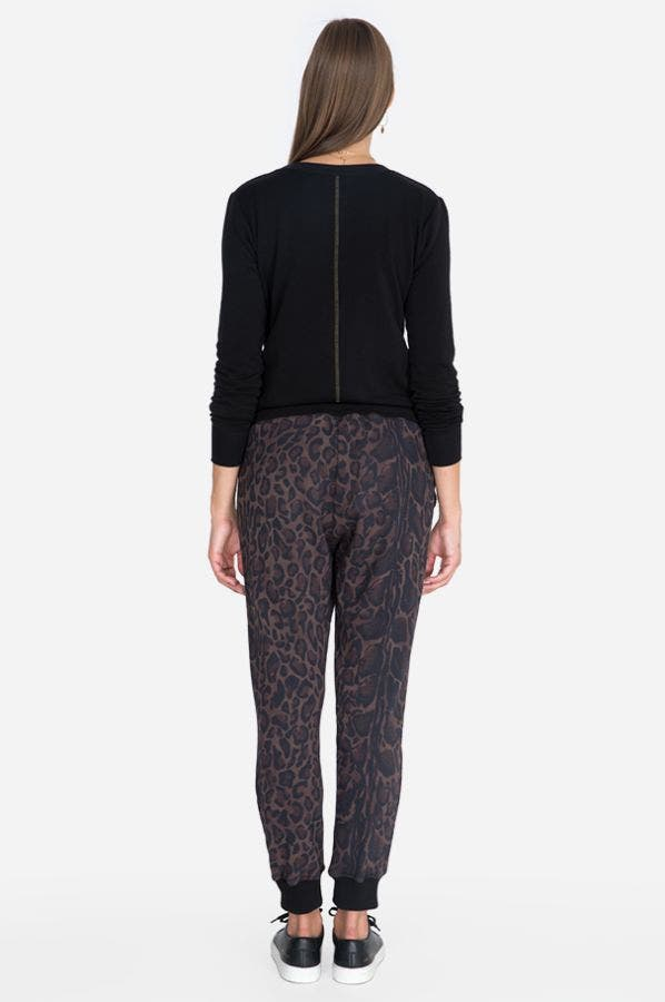 LEOPARD FRENCH TERRY JOGGER