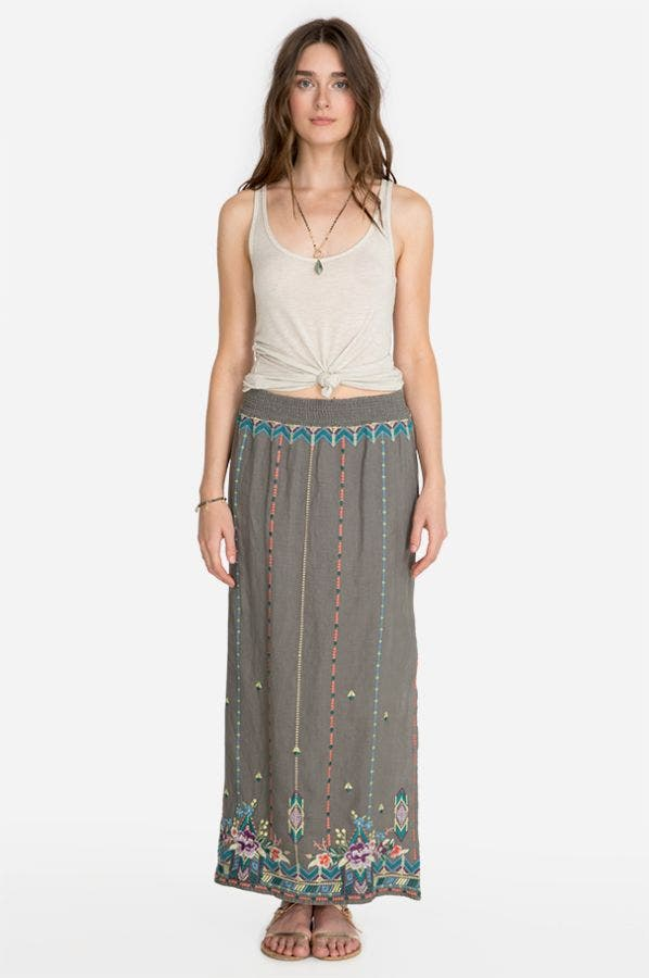MAIORCA SIDE SLIT MAXI SKIRT