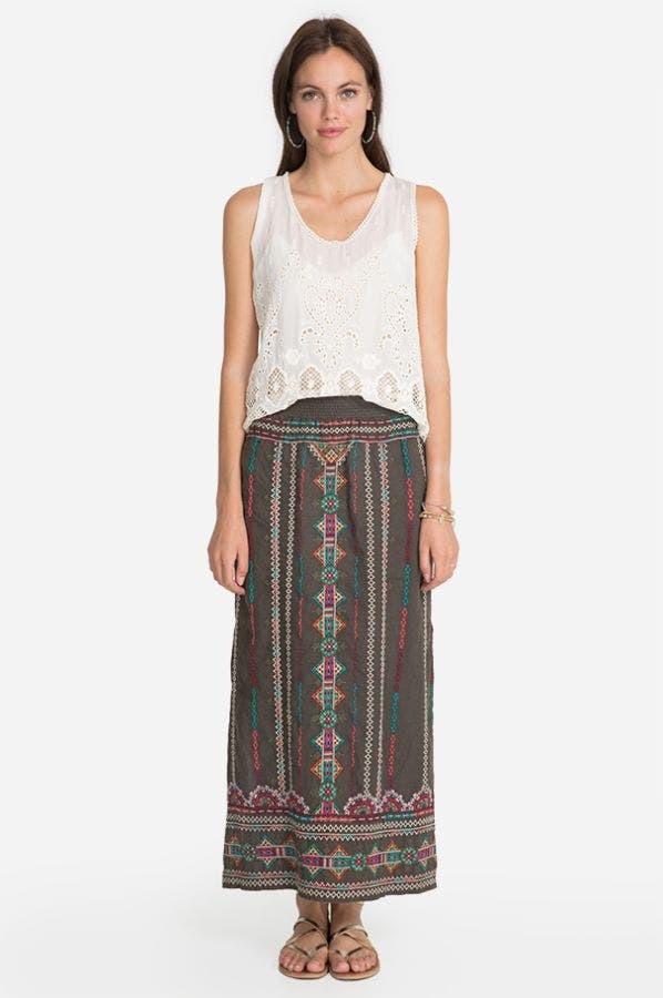 VERENA SIDE SLIT MAXI SKIRT