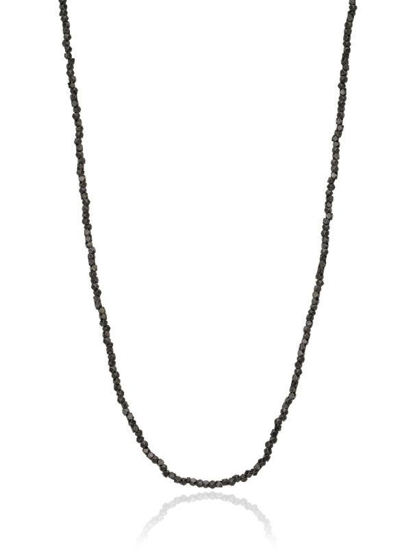 SILVER PLATED BRASS CUBE NECKLACE