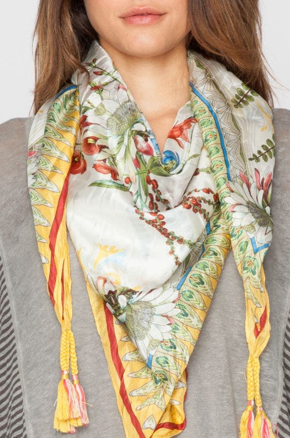 Exotic Flower Scarf
