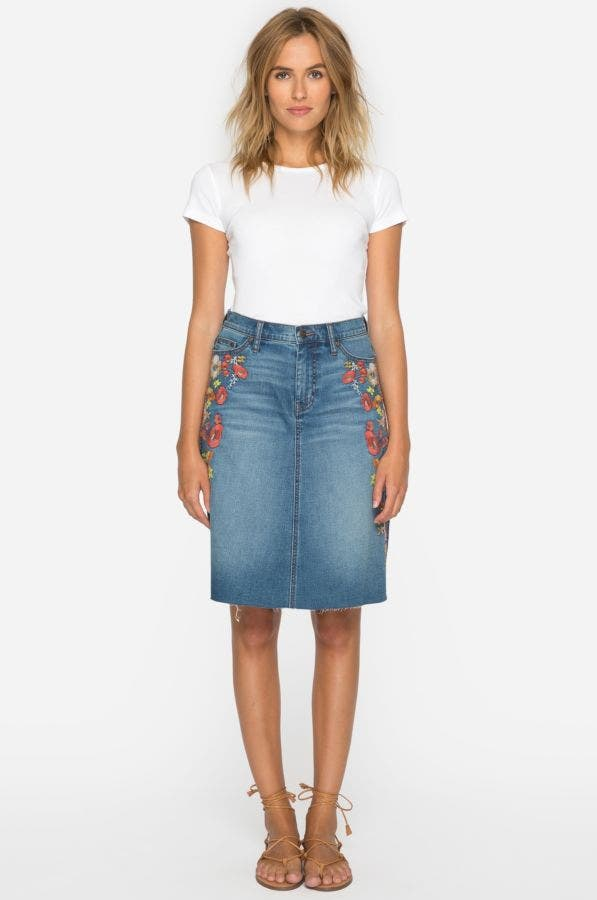 Christy Embroidered Skirt
