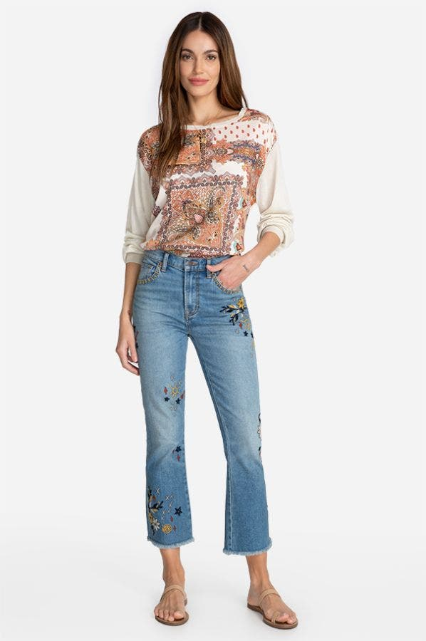TERRA EMBROIDERY JEAN