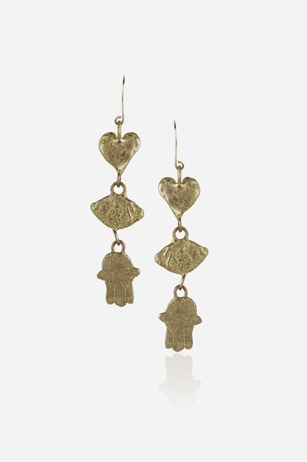HAMSA CHARM EARRINGS