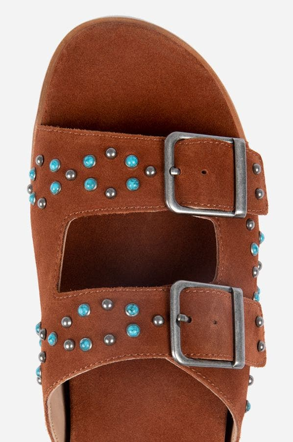STUDDED BUCKLE SLIDE