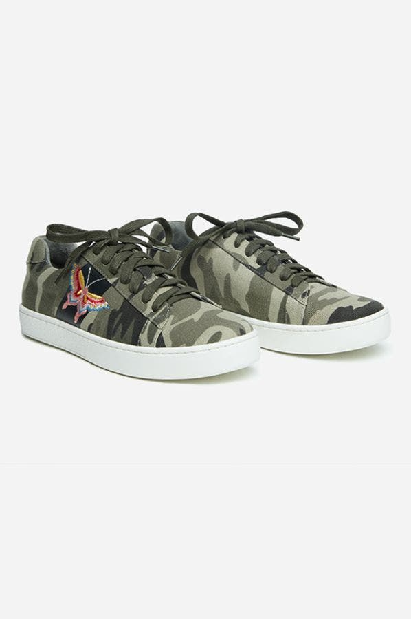 EMBROIDERED CANVAS SNEAKER