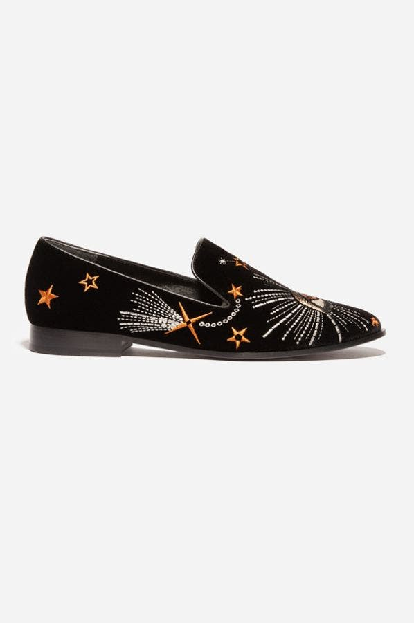 CELESTIAL VELVET SMOKING LOAFER
