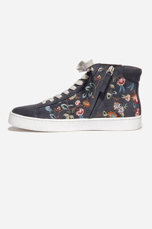 EMBROIDERED HI-TOP SNEAKER