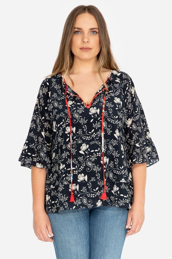 LAGO TIERED TOP-PLUS SIZE