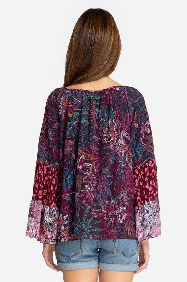 TOLEDO TIERED SLEEVE BLOUSE