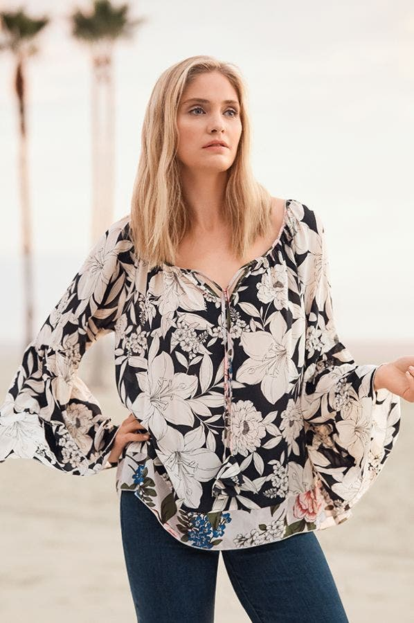 EVA TIERED SLEEVE BLOUSE