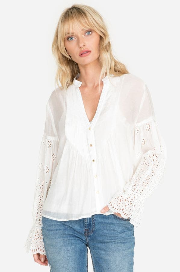 PAZ PINTUCKED BLOUSE