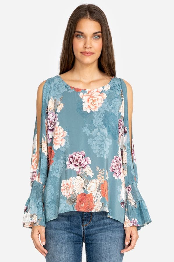 CLAUDINE COLD SHOULDER BLOUSE