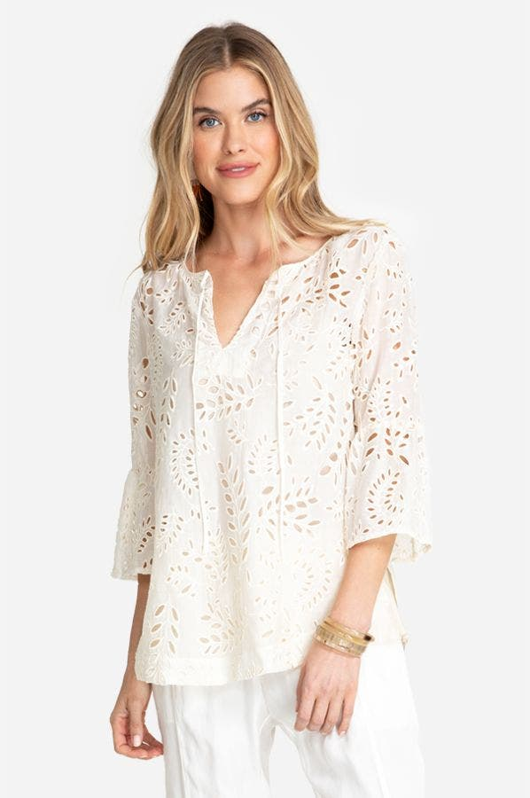 BIANKA LACE FRONT BLOUSE