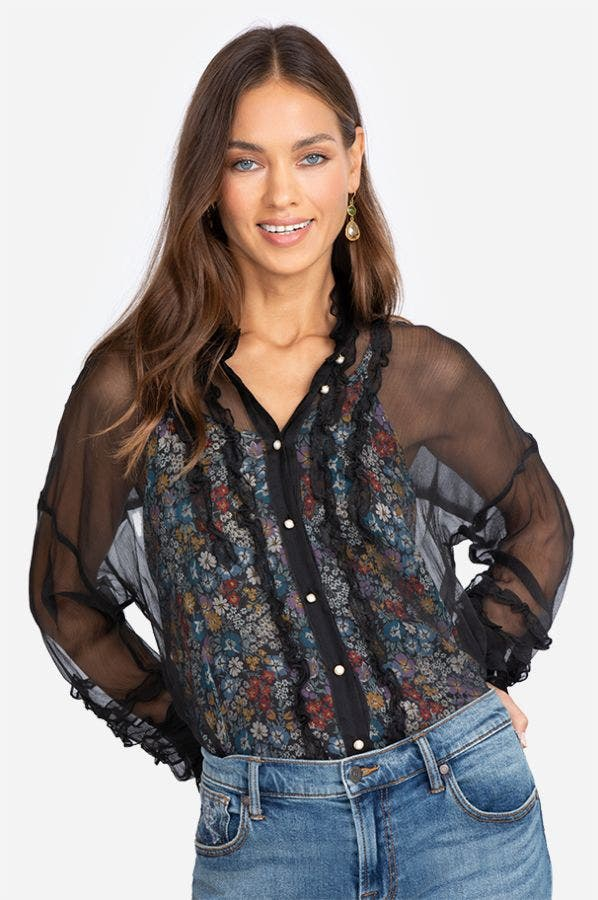 GUILIE BUTTON DOWN TOP