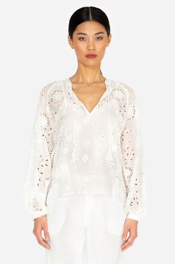 RIVER EYELET BLOUSE