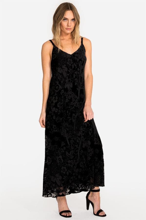 NINA BURNOUT MAXI DRESS