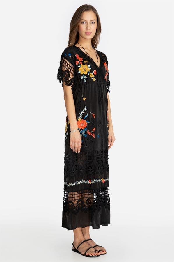 YALITZA EMBROIDERED MAXI DRESS
