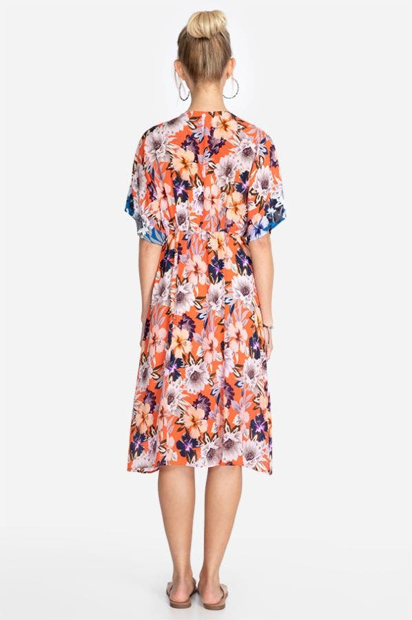 DEEPIKA TIE FRONT MIDI DRESS