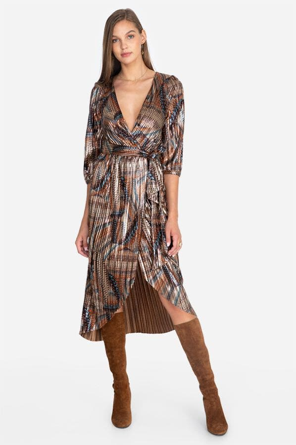 TEYA WRAP DRESS