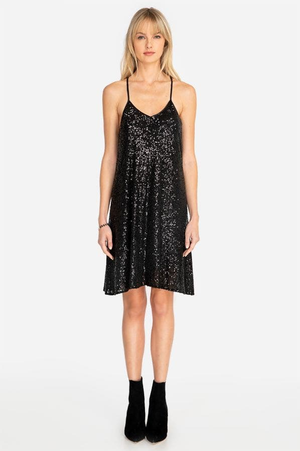ADNARO SEQUIN SWING DRESS
