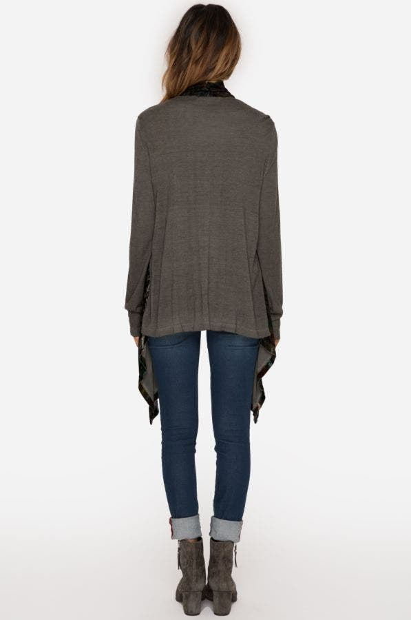 Velvet Drape Sweater
