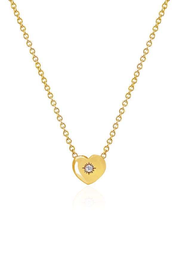 14K GOLD HOME IS WHERE THE HEART IS NECKLACE