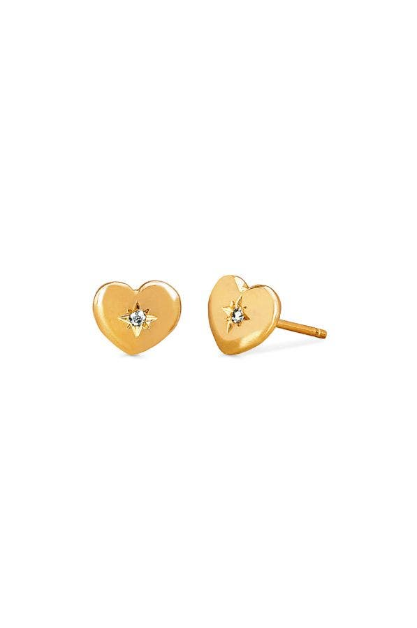 14k Gold Home Is Where The Heart Is Earrings