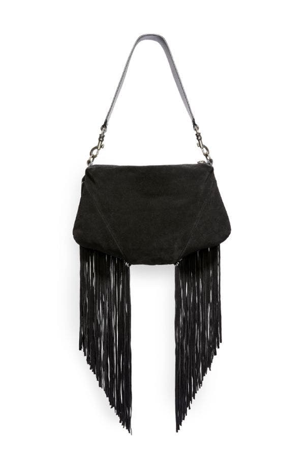 FRANCESCA FRINGED SHOULDER BAG