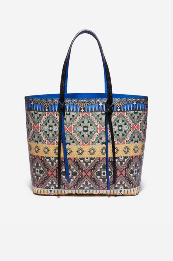 PRINTED ALL LEATHER TIPPI TOTE