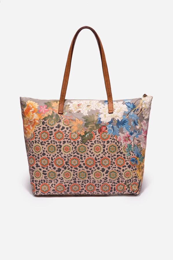 TAYLOR LEOPARD TOTE