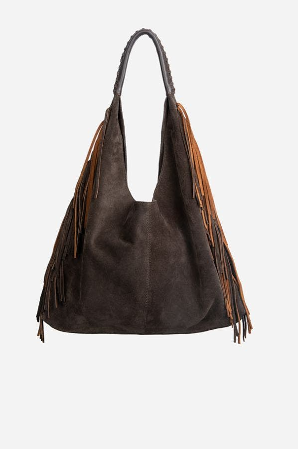 SOFT FRINGE HOBO