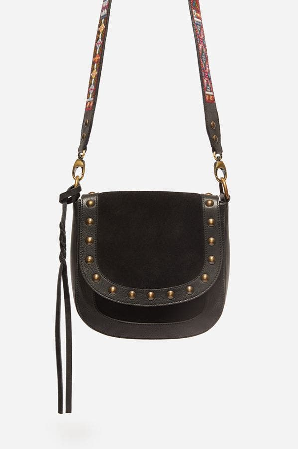 MAYA EMBROIDERED STRAP CROSSBODY
