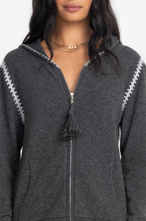 WHIPSTITCH ZIP-UP HOODIE