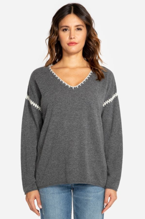 WHIPSTITCHED PULLOVER SWEATER
