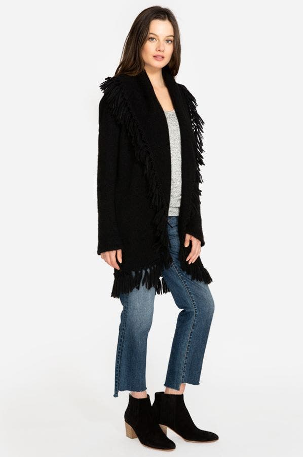 FRINGE SWEATER CARDIGAN