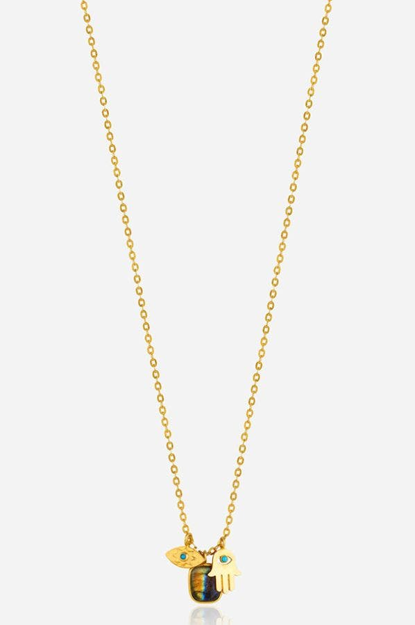 CLUSTERED CHARM NECKLACE