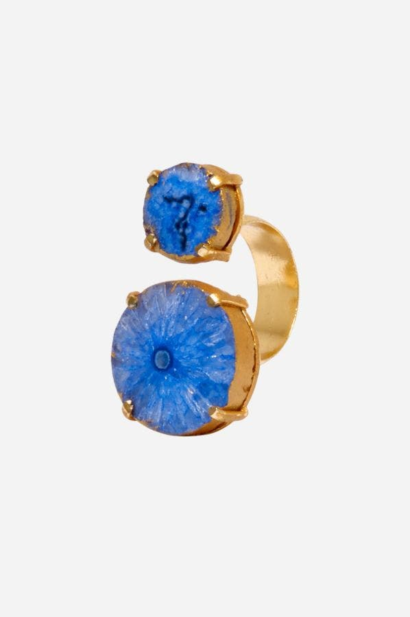 BLUE REEF RUNNER WRAP RING