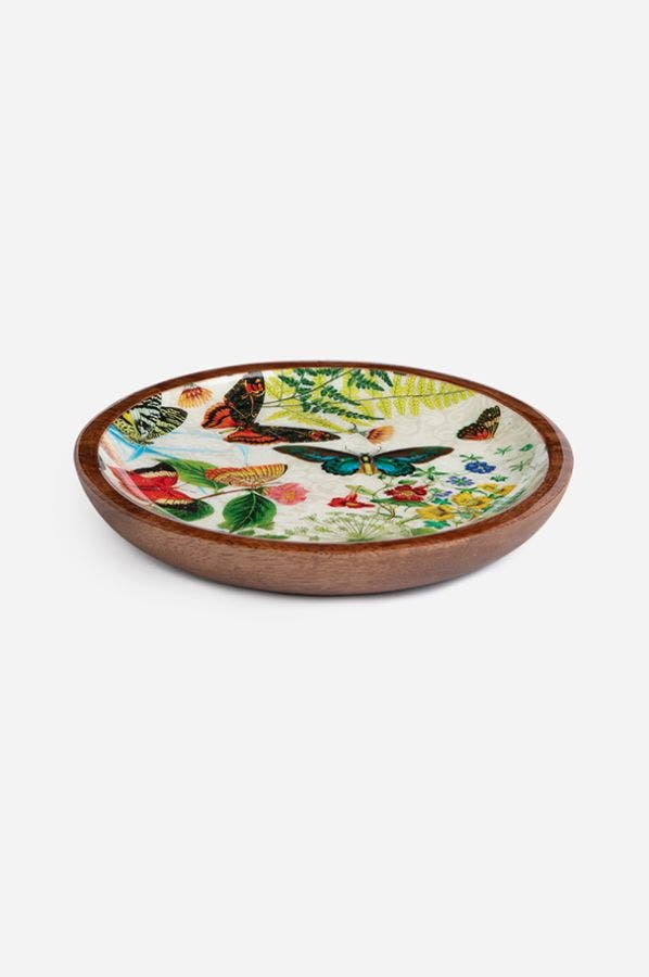 HAPPY WINGS ROUND TRINKET TRAY