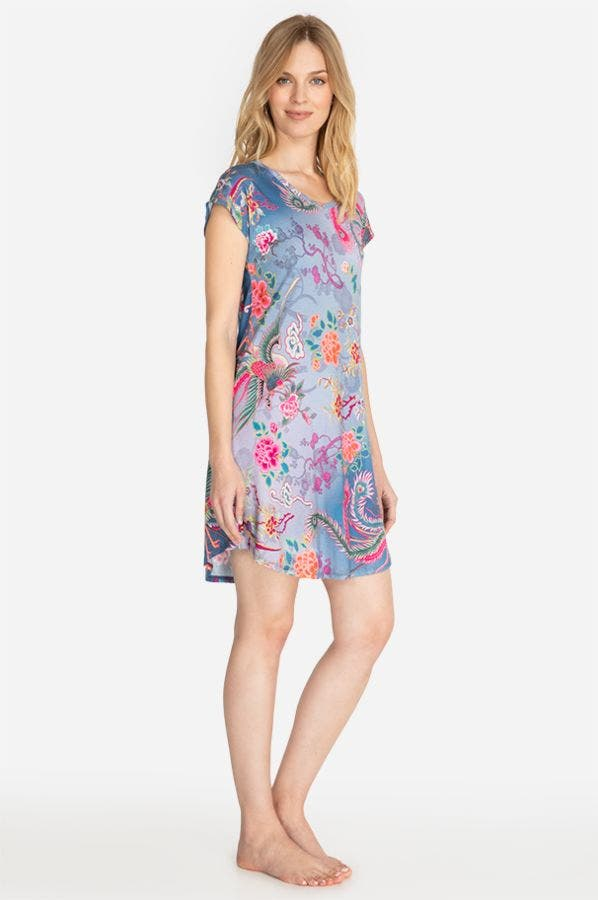 NOVA PHOENIX CAP SLEEVE SLEEP DRESS