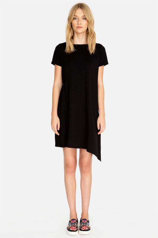 ASYMMETRICAL CINCH DRESS