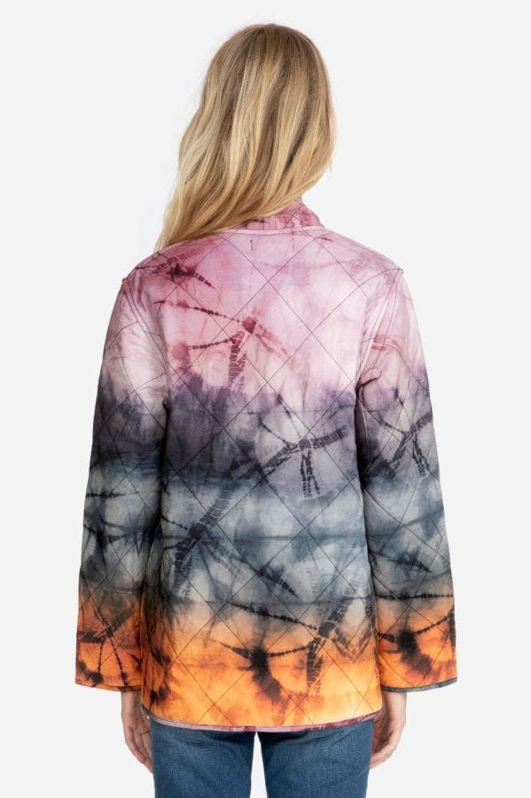 TIE DYE QUILTED JACKET